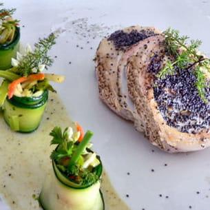 tournedos de colin et ses makis de petits légumes