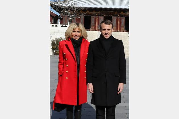 Brigitte Macron le 8janvier 2018