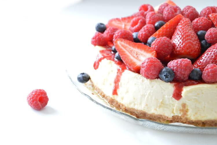 Cheesecake citron et fruits rouges