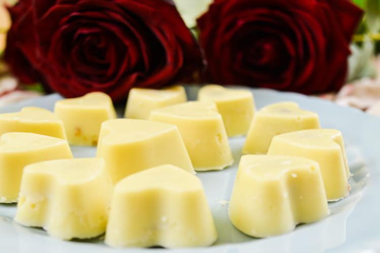Coeurs de chocolat blanc et spéculoos