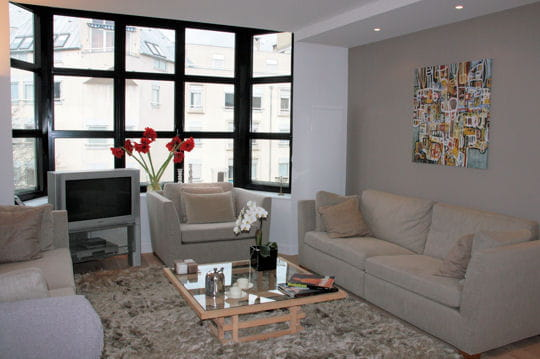 un appart 39 classique l 39 esprit loft. Black Bedroom Furniture Sets. Home Design Ideas