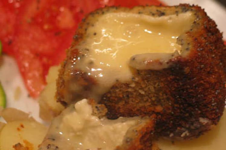 Camembert pané aux graines de pavot