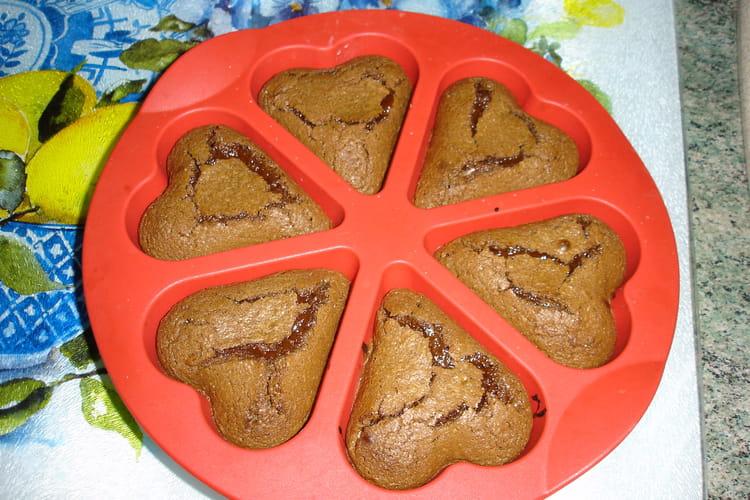 Coeurs fondants au chocolat