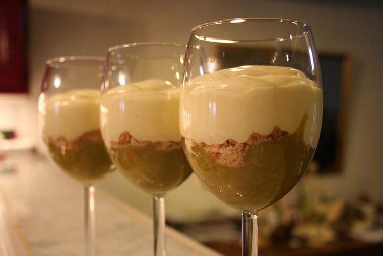 Trifles à la rhubarbe