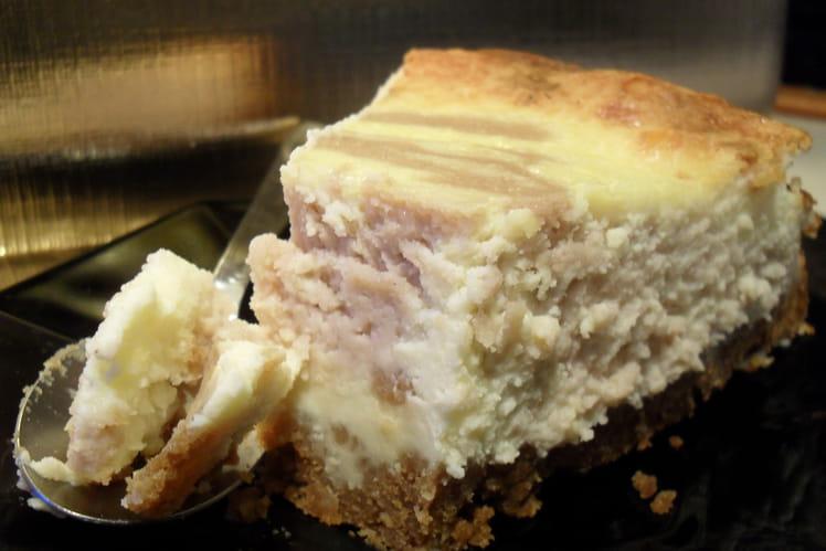 Cheesecake marbré chocolat blanc et crème de marron