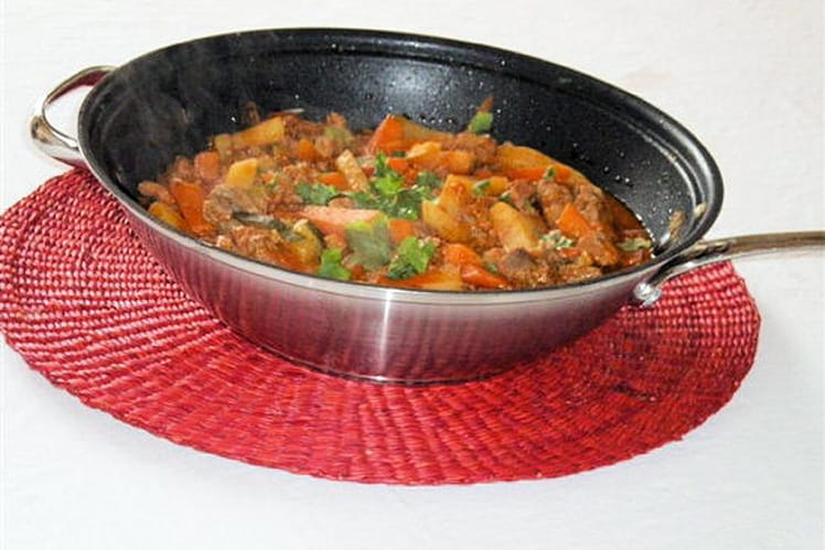 Recette de wok de filet mignon de porc au curry de l gumes - Cuisiner filet mignon de porc ...