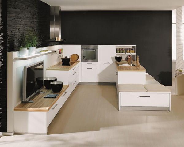 la cuisine tout en un. Black Bedroom Furniture Sets. Home Design Ideas