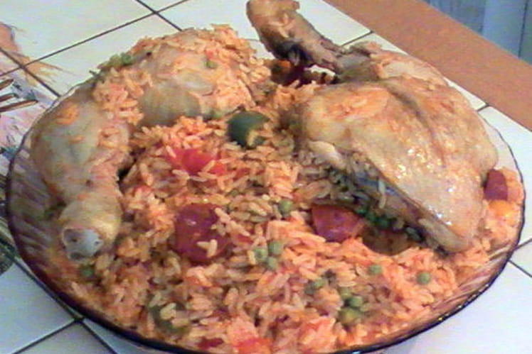Paëlla au poulet et chorizo