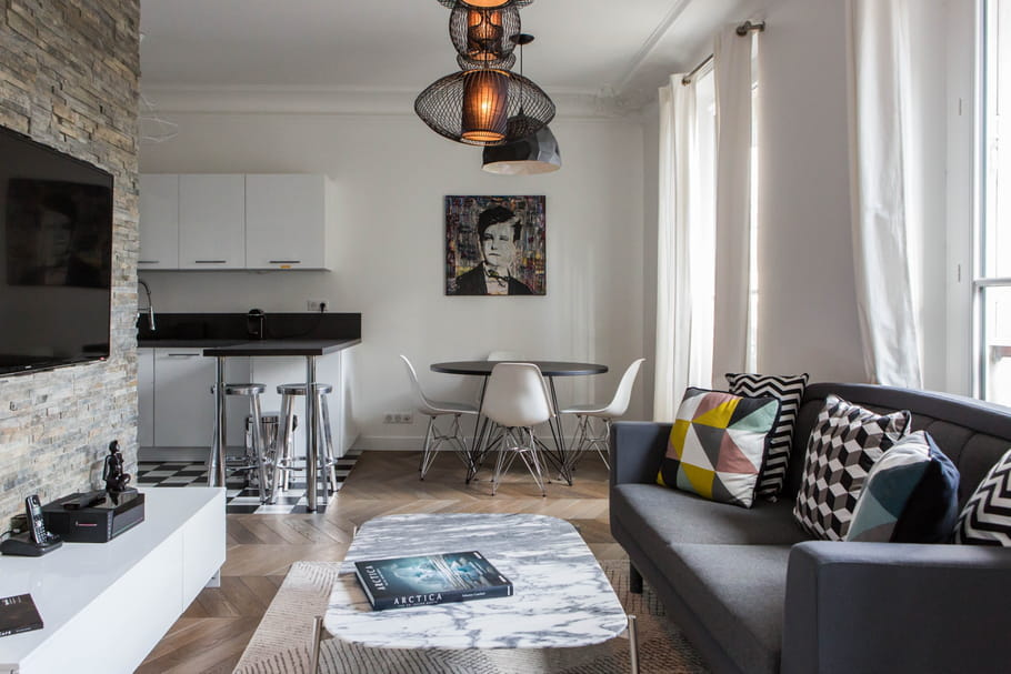 salon et salle manger comment d limiter les espaces. Black Bedroom Furniture Sets. Home Design Ideas