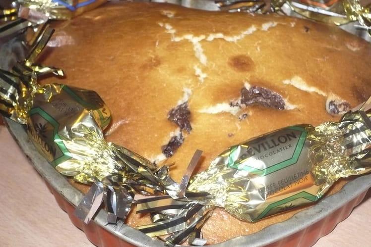 Coeur de Noël de papillotes en chocolat