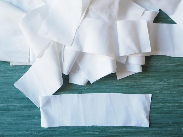 Etape 1 : préparer les bandelettes