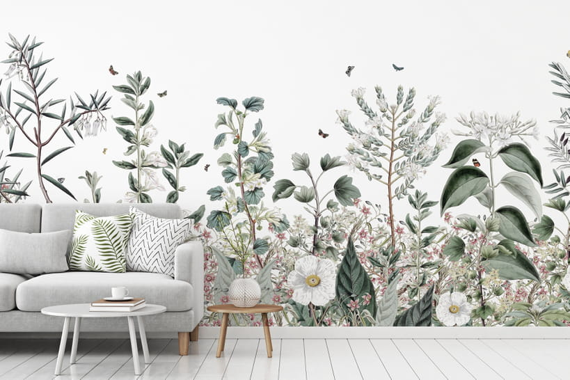 Papier peint fleuri: la fine fleur de ce revêtement mural