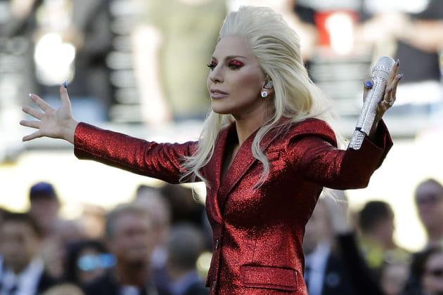 Lady Gaga a chanté l'Hymne National Américain