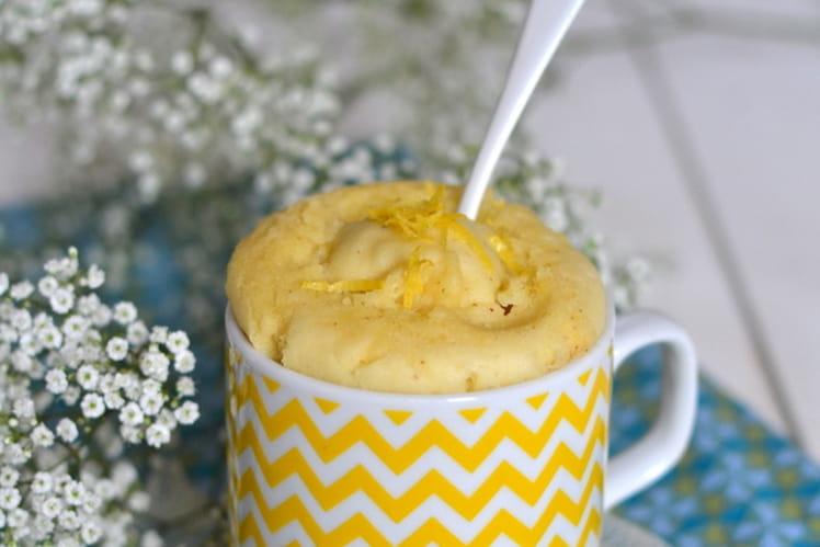 Mug cake végétal au citron sans micro-ondes & sans gluten