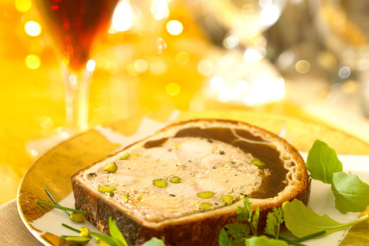 Pâté en croûte de foie gras à la Bière de Noël