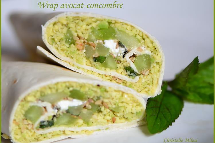 Wrap avocat-concombre