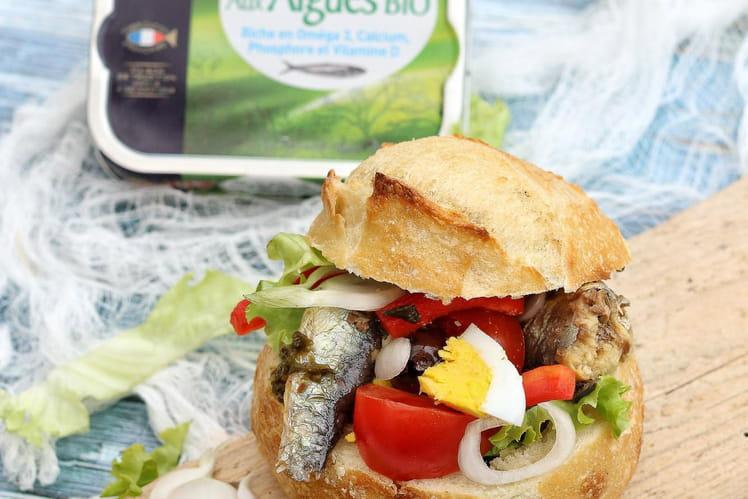 Pan Bagna aux sardines et algues bio Le Trésor des Dieux
