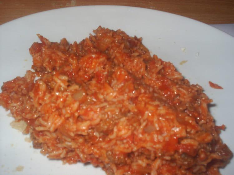Recette de riz la tomate et viande hach e la recette - Viande facile a cuisiner ...