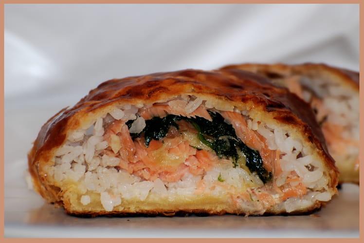 Recette de feuillet au saumon fum la recette facile - Cuisiner un pave de saumon ...