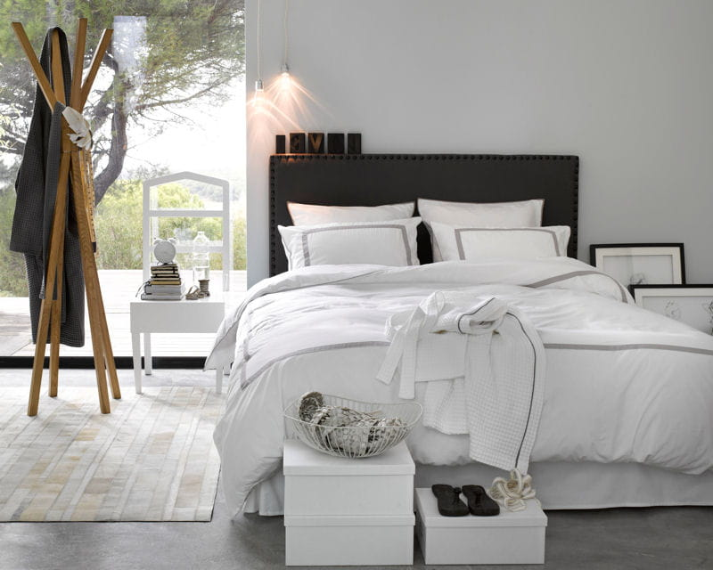 linge de lit otel de la redoute. Black Bedroom Furniture Sets. Home Design Ideas