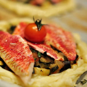 tartelettes de rougets à la provençale