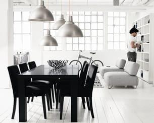 ambiance contemporaine chic. Black Bedroom Furniture Sets. Home Design Ideas