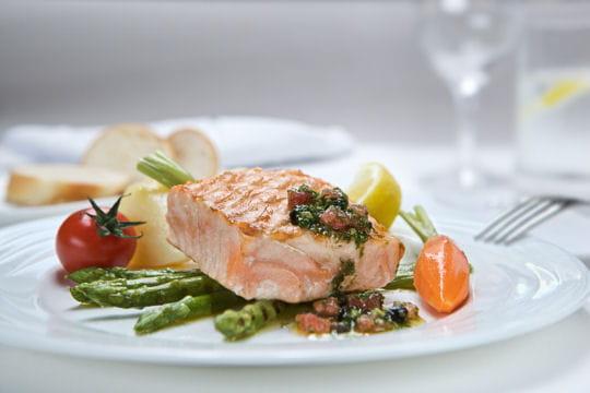 Pavé de saumon chez Emirates