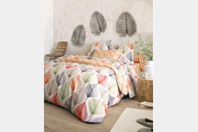 Linge de lit multicolores par Becquet