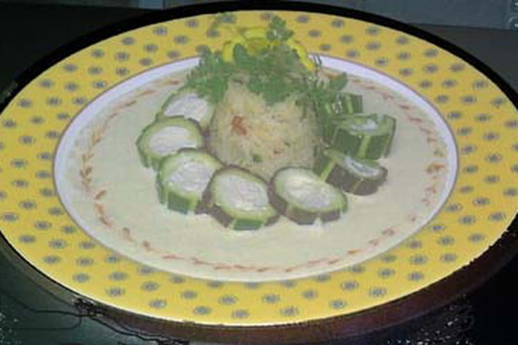 Mousseline de Saint-Jacques aux courgettes