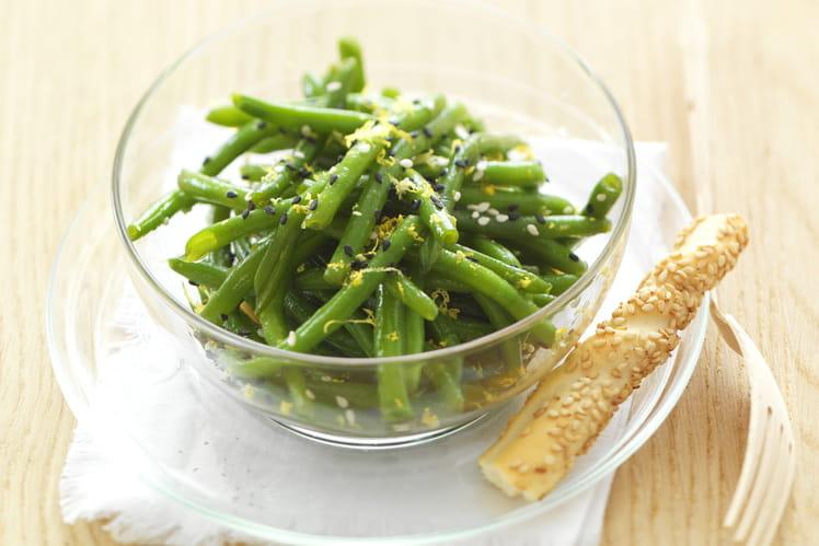 Salade de haricots verts au thé vert