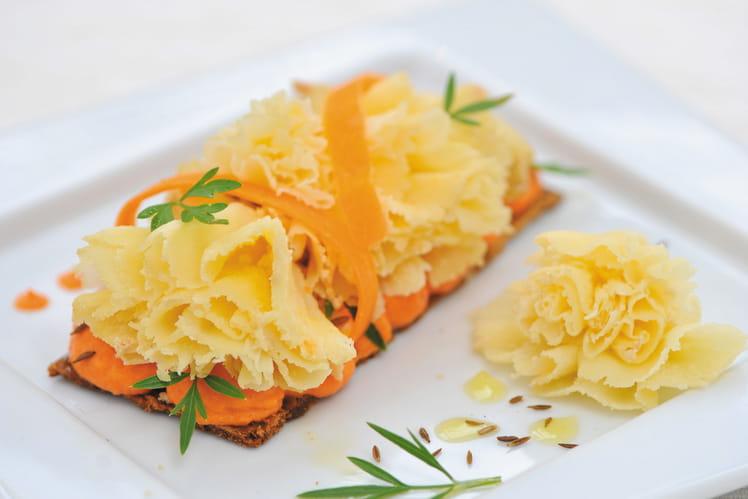 Tête de Moine AOP à la carotte parfumée au cumin