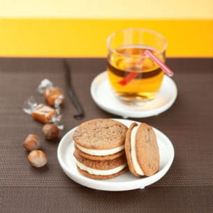 cookies caramel, noisette et vanille