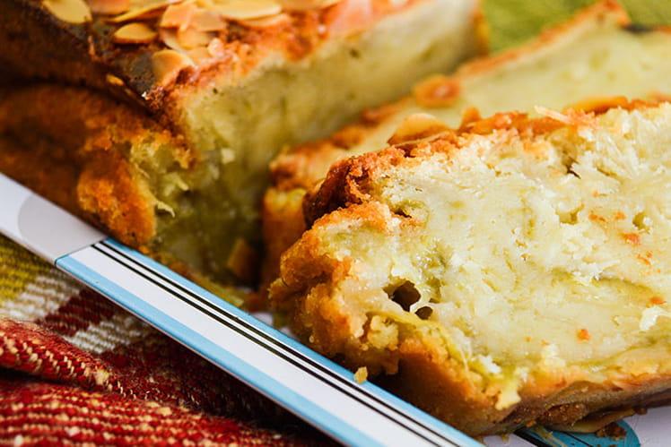 Cake rhubarbe et amandes