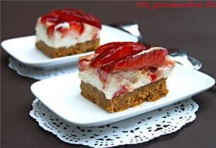 carré aux fraises et au mascarpone.