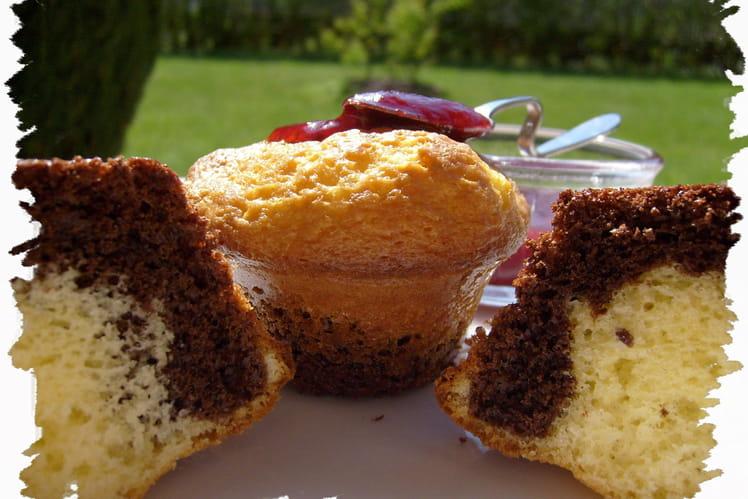 Muffins chocolat noir et blanc