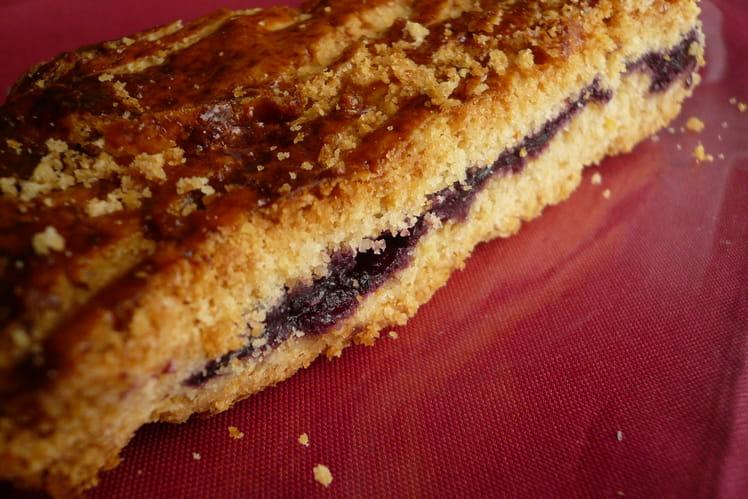 Gâteau basque à la confiture de cerise
