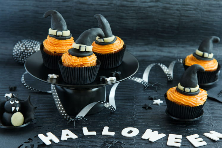 Cupcakes sorcières chocolat-vanille