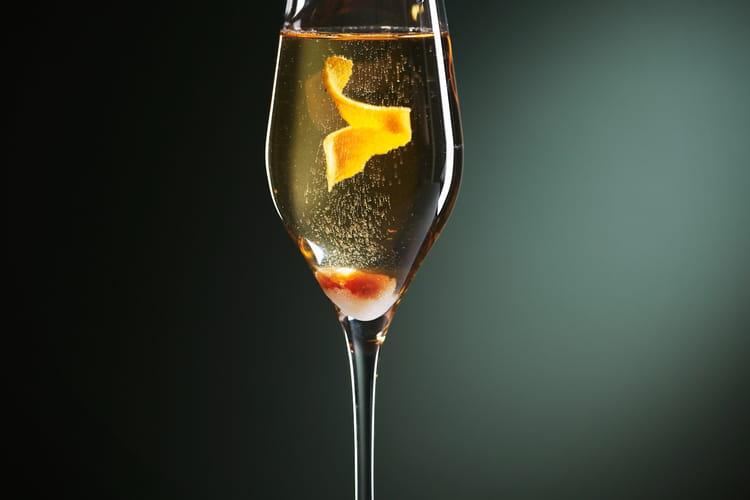 Soupe de champagne au Grand Marnier