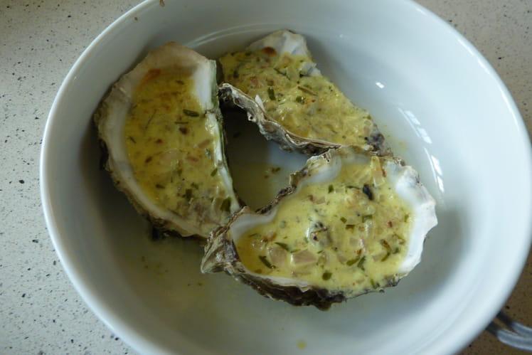 Huîtres chaudes au curry et à l'estragon