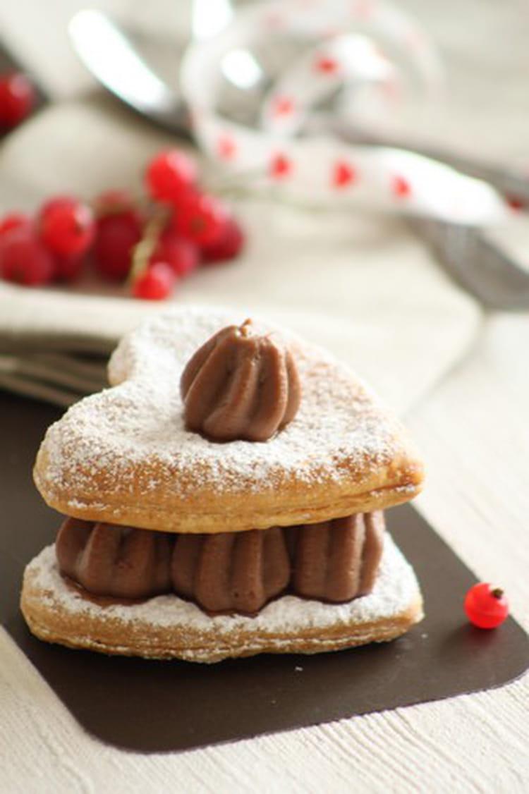 recette de mille feuilles au chocolat de la st valentin la recette facile. Black Bedroom Furniture Sets. Home Design Ideas