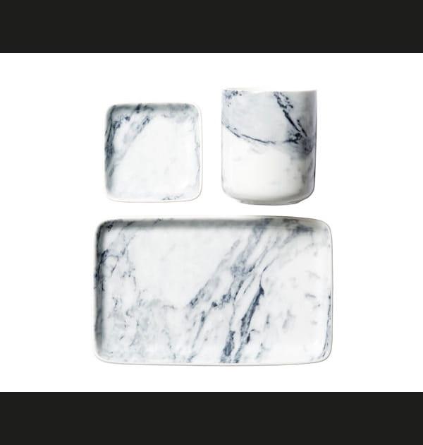Vaisselle en porcelaine imprimée marbre d'H&M Home