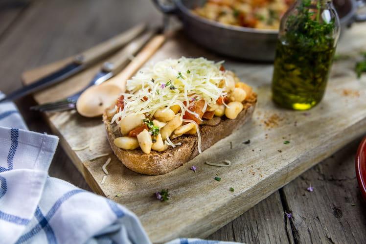 Tartine de Haricots Tarbais à la provençale