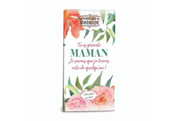 """La tablette de chocolat """"Tu es géniale Maman"""" du Comptoir de Mathilde"""
