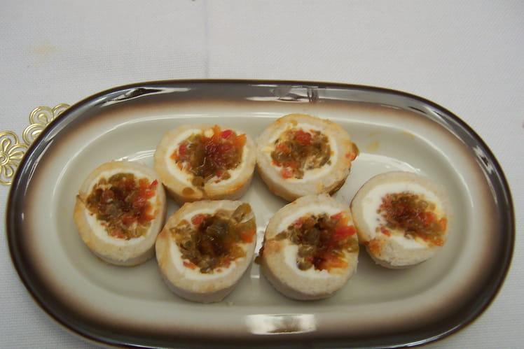 Rollitos de pimientos y queso fresco