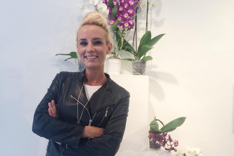 Elodie Gossuin, ambassadrice romantique des orchidées