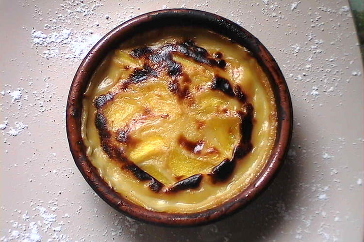 Gratin de mangue au jus d'ananas