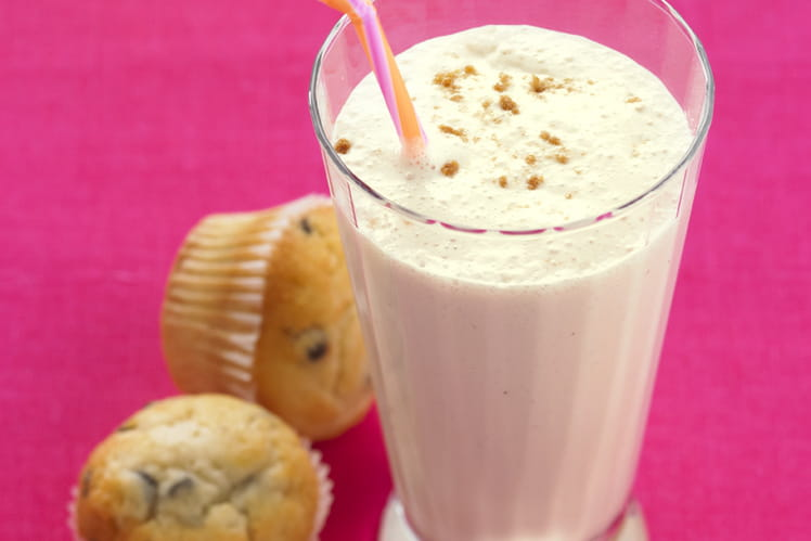 Milkshake banane aux deux laits