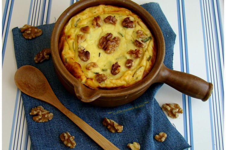 Flan de chou fleur aux noix et parmesan