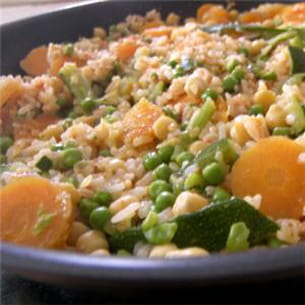 riz complet aux petits légumes.