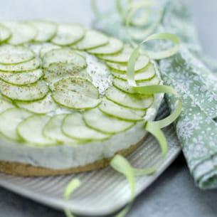 cheesecake concombre-menthe